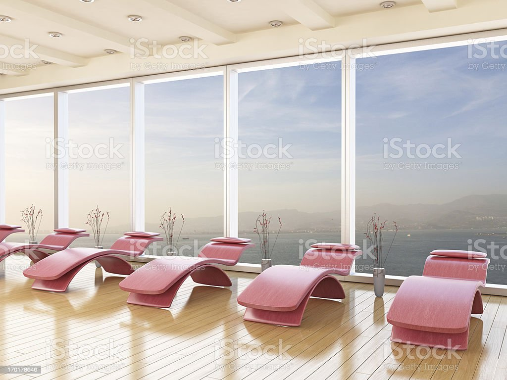 Massage Area royalty-free stock photo