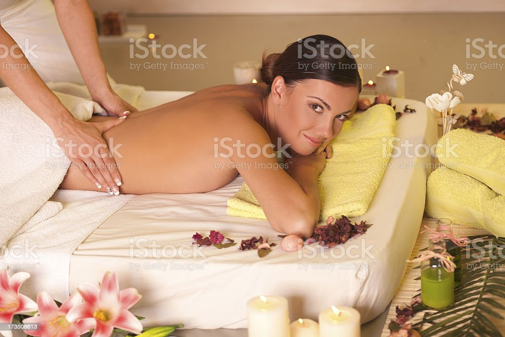 Massage at home royalty-free stock photo