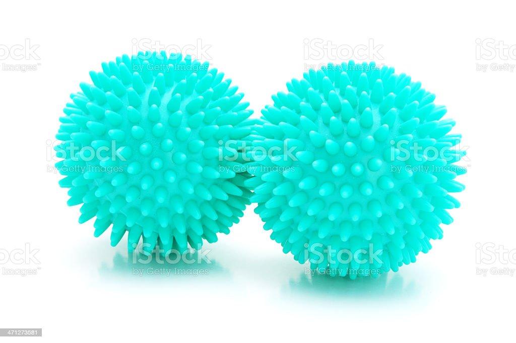 Massage balls isolated stock photo