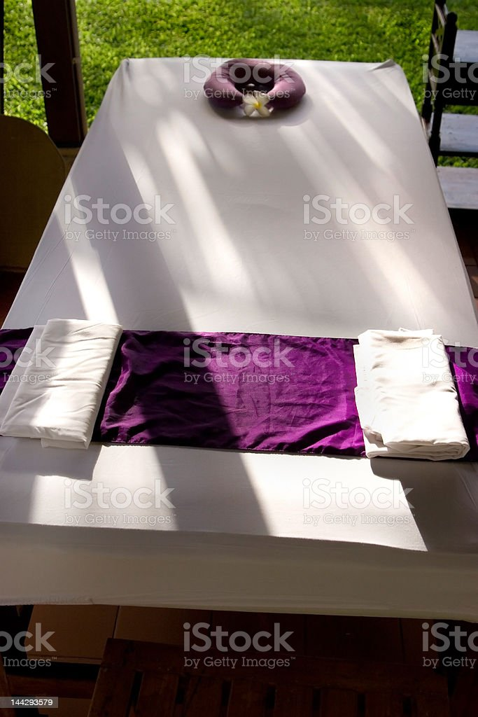 Massage Bed Outdoor royalty-free stock photo