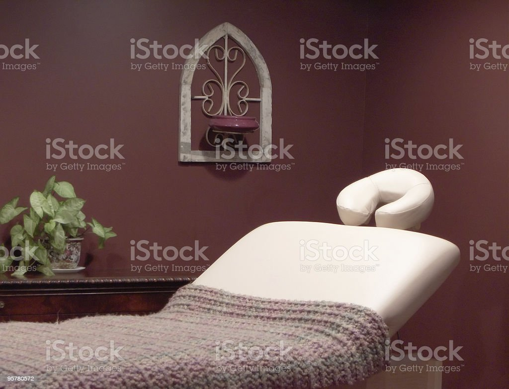 Massage Bed stock photo