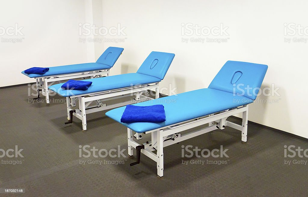 Massage Beds stock photo