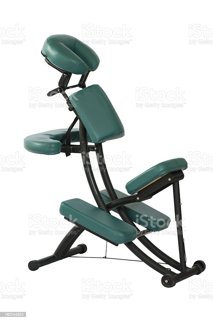 Massage Chair Isolated on White royalty-free stock photo