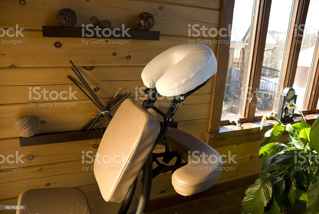 Massage chair, chaise spa royalty-free stock photo