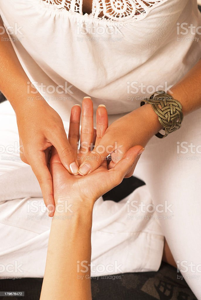 Massage detail royalty-free stock photo