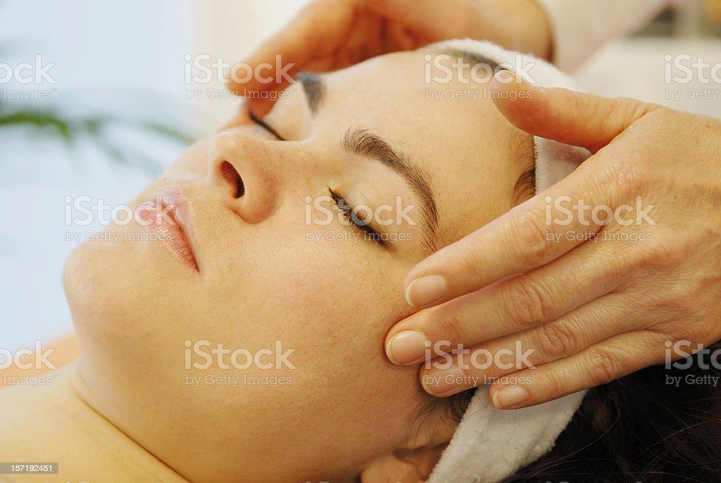 massage facial stock photo