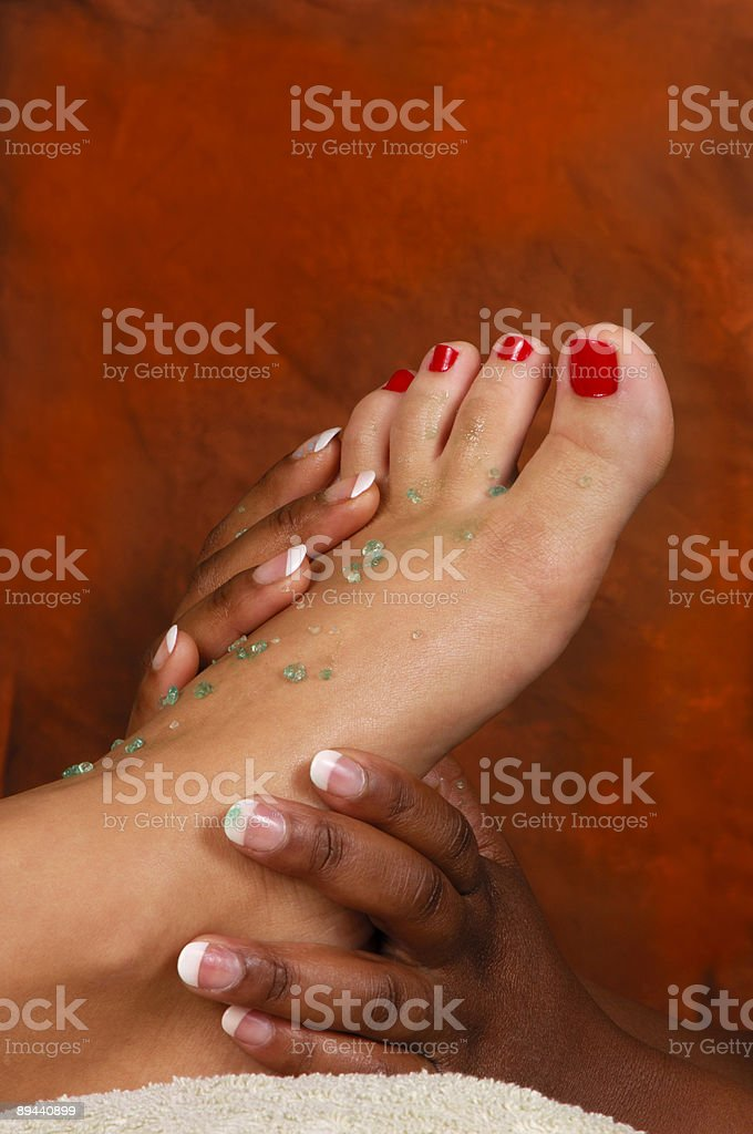 Massage Foot Treatment at Spa royalty-free stock photo