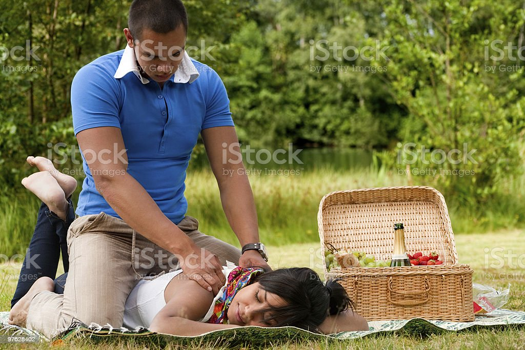 Massage for her royalty-free stock photo