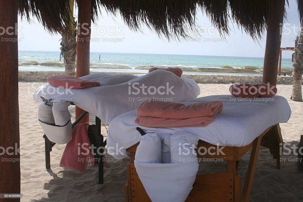 Massage for two by the sea royalty-free stock photo