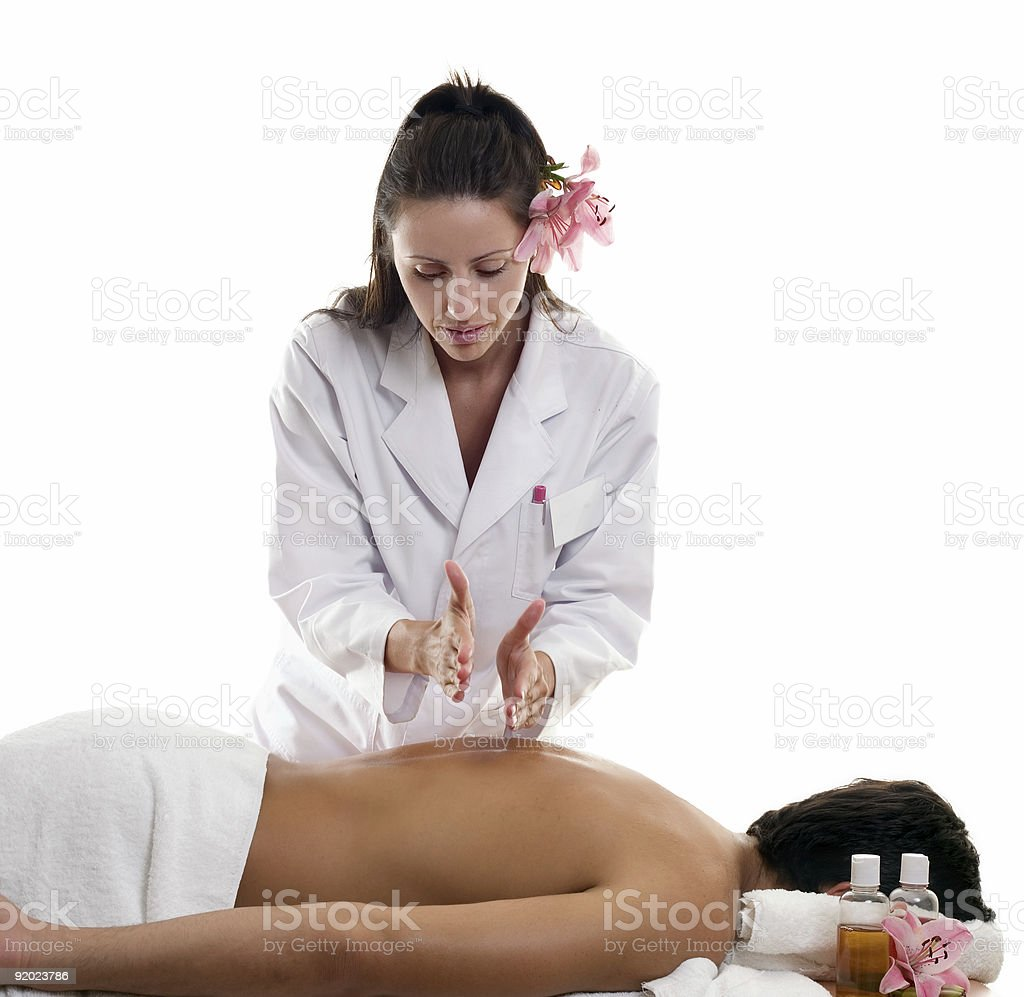 Massage  Hacking royalty-free stock photo