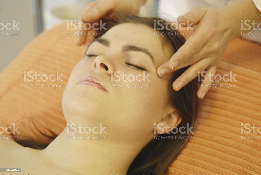 massage Head and shoulder royalty-free stock photo