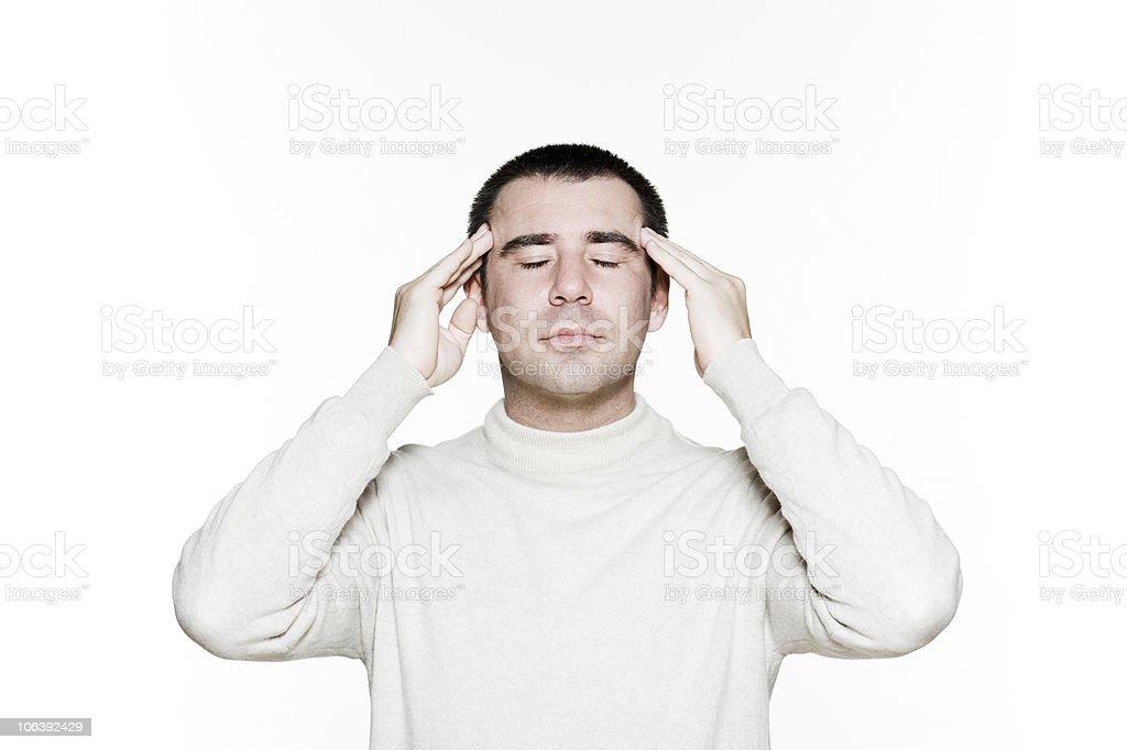 massage head man royalty-free stock photo