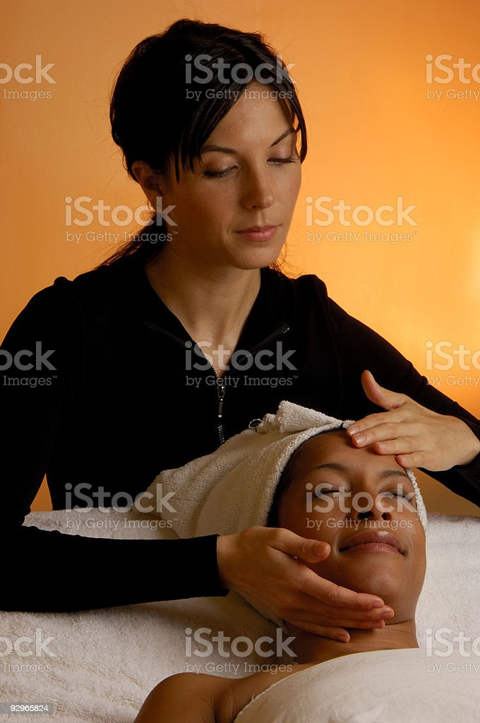 Massage Healing Touch royalty-free stock photo