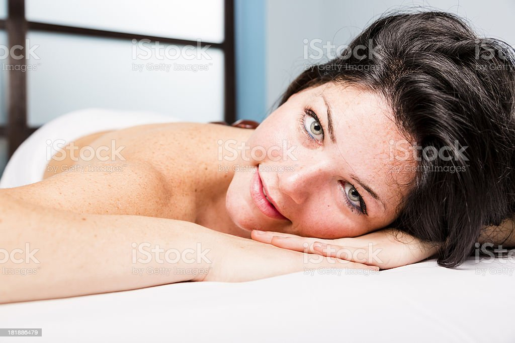 Massage in a spa center royalty-free stock photo