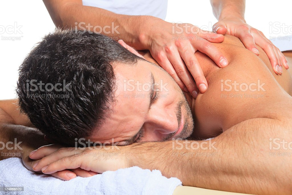 Massage - Men royalty-free stock photo