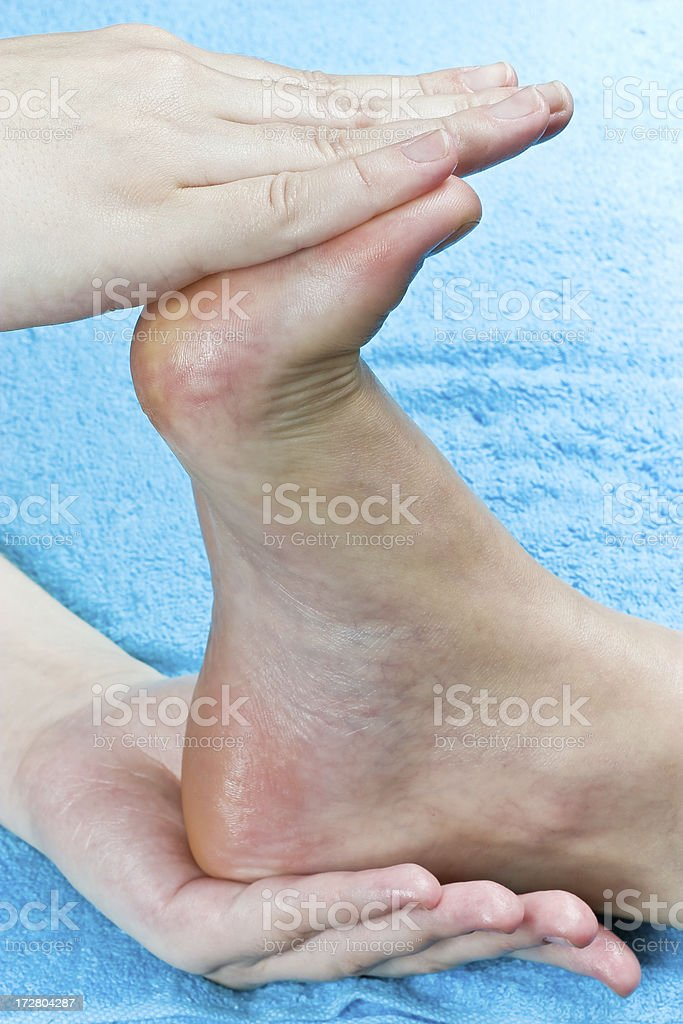 Massage of a foot stock photo