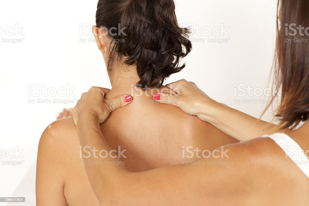 Massage of back stock photo