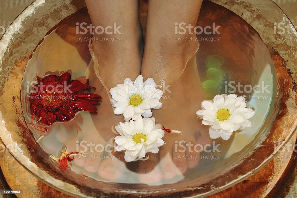 Massage of feet royalty-free stock photo
