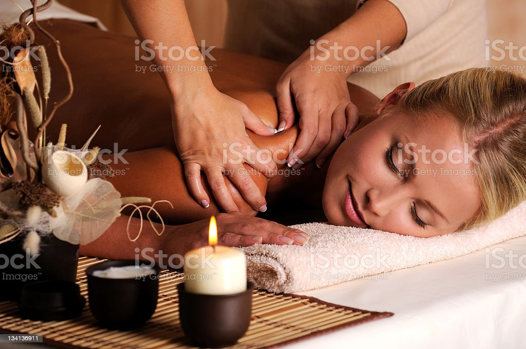 Massage of shuolder stock photo