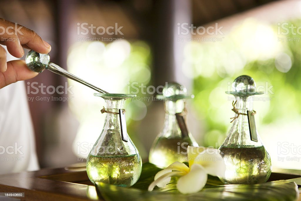 Massage oil stock photo
