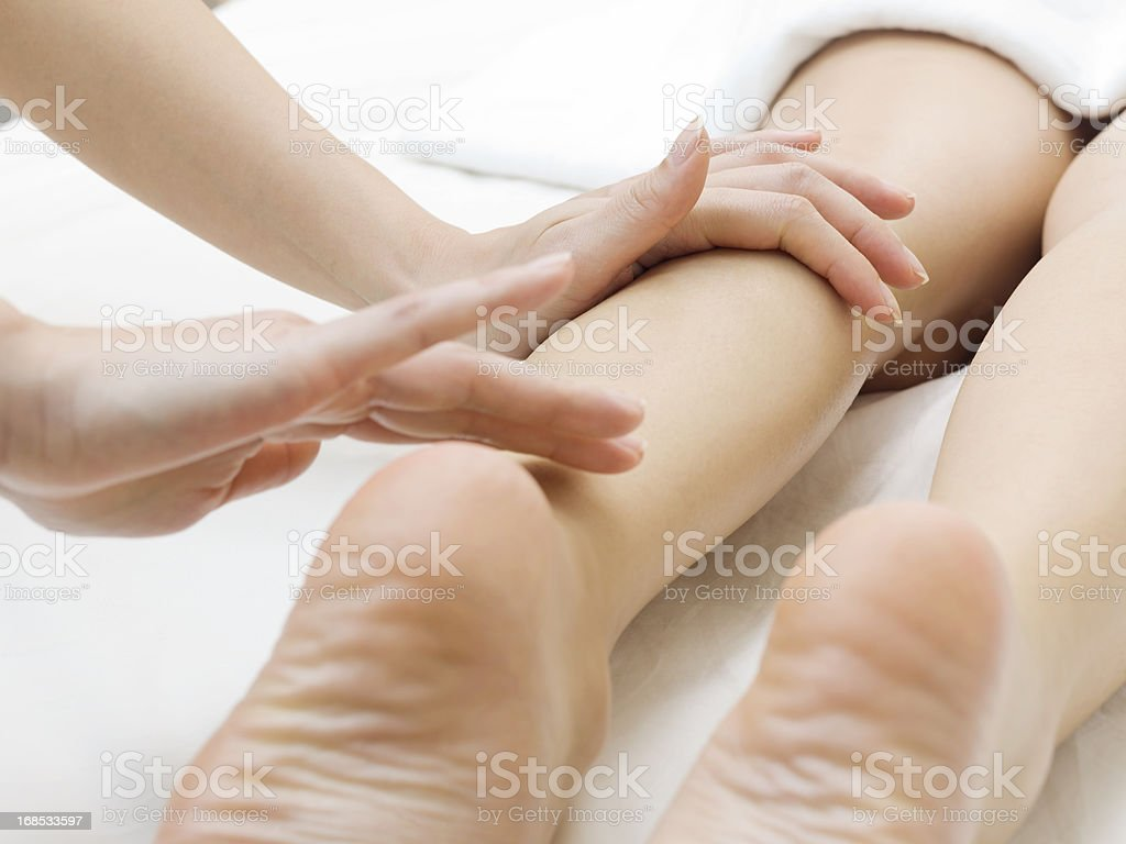 Massage on the foot royalty-free stock photo