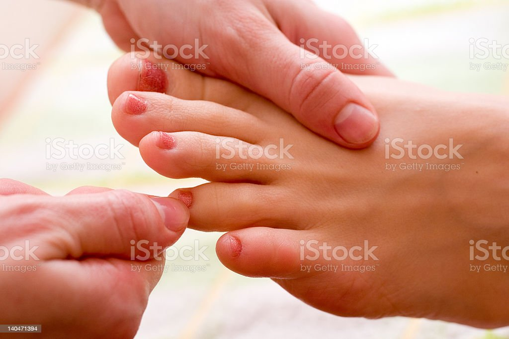 massage procedure royalty-free stock photo