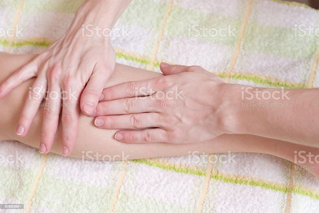 massage procedure royalty-free stock photo