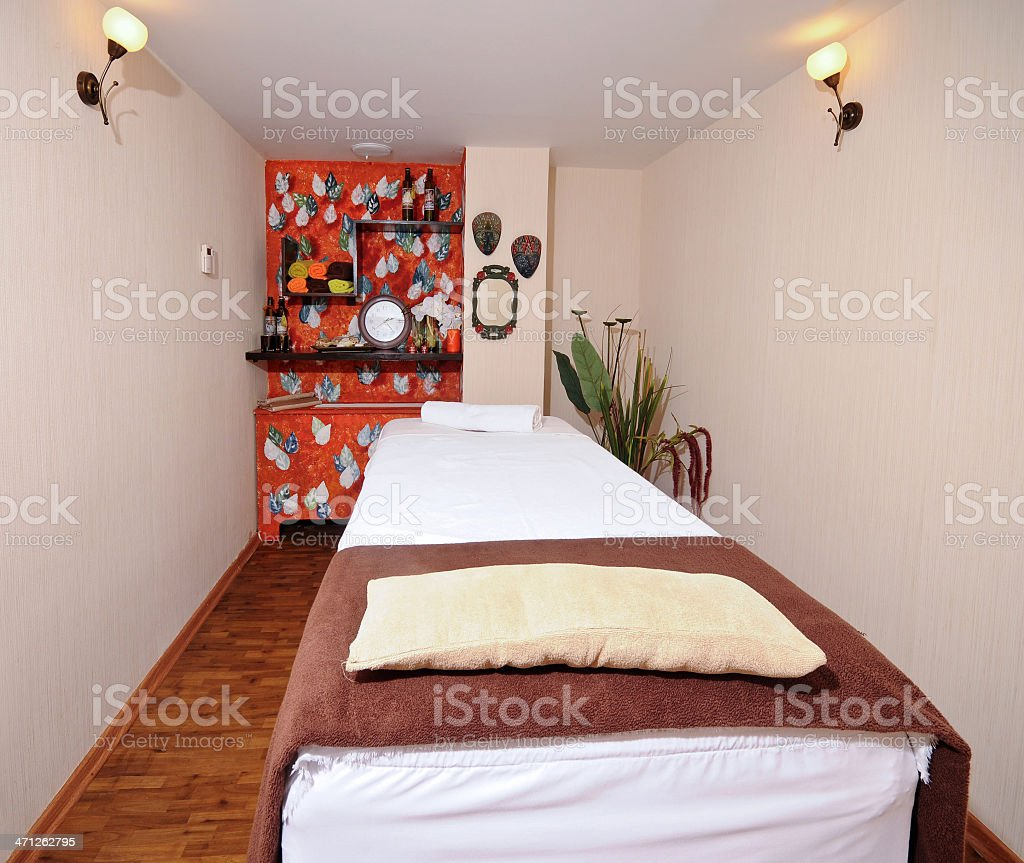 Massage room royalty-free stock photo