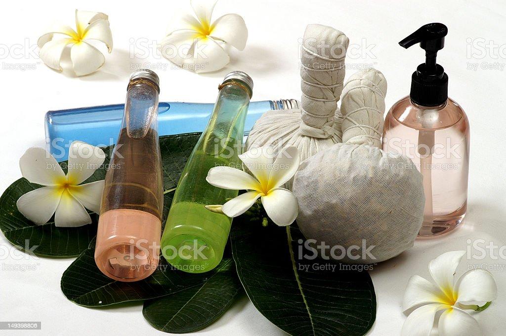 massage spa herb stock photo