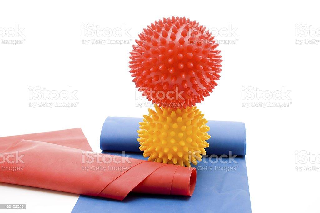 Massage sting ball on gymnastics tape royalty-free stock photo