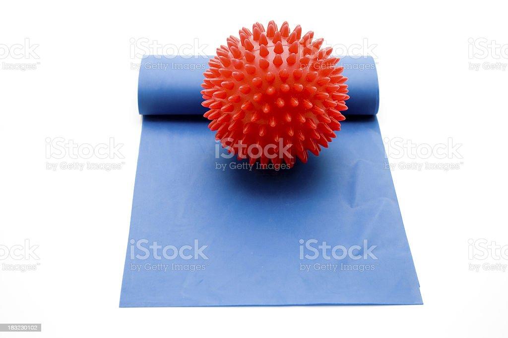 Massage sting ball on gymnastics tape stock photo