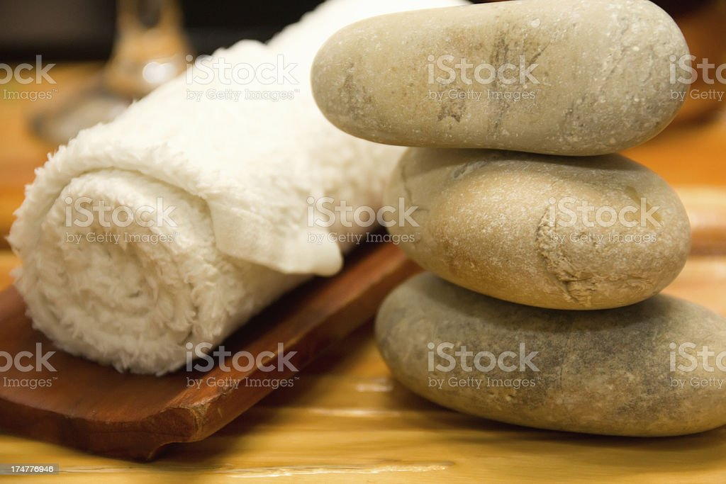 Massage Stones in a Zen Spa royalty-free stock photo