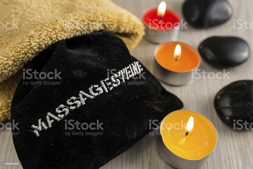 Massage stones royalty-free stock photo