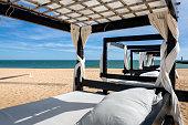 Massage table on beach in Vilamoura