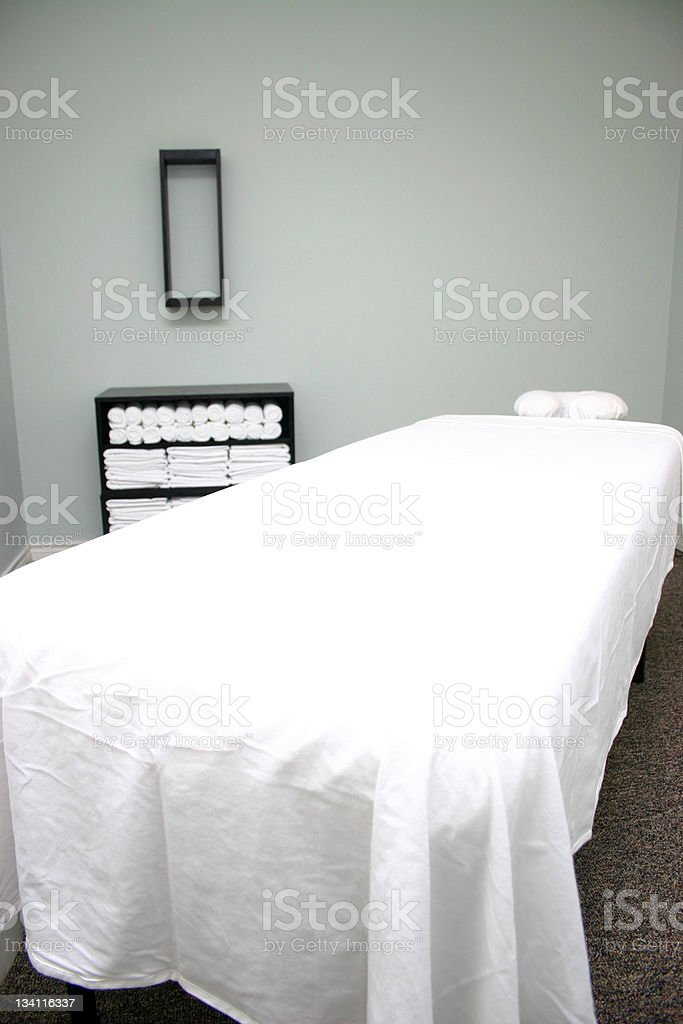 massage table royalty-free stock photo