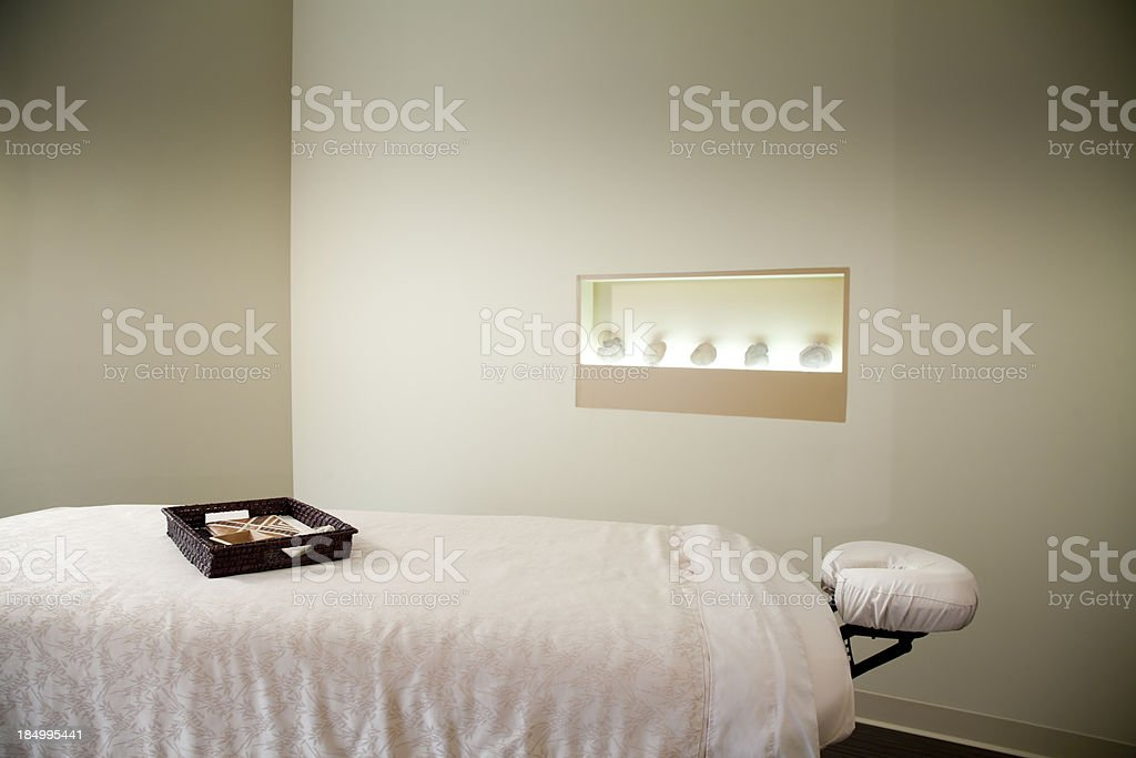 Massage Table stock photo