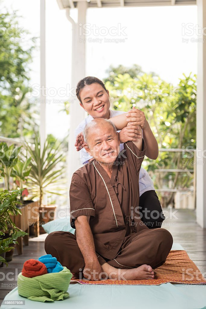 massage therapist stock photo