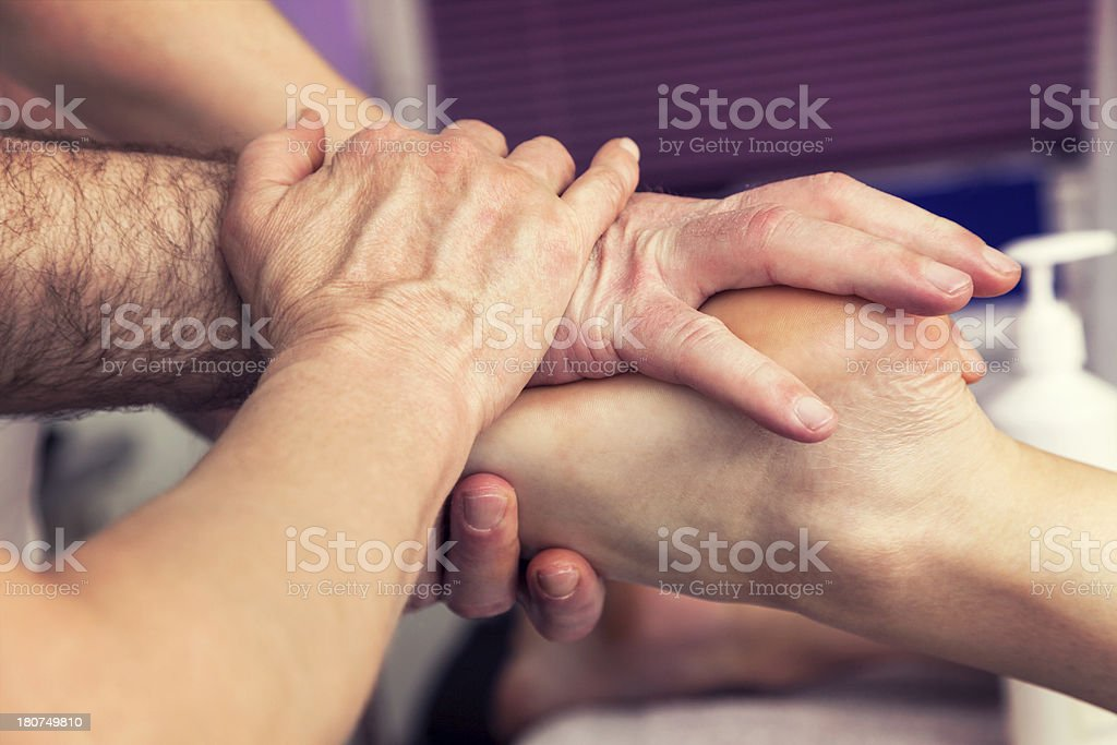 Massage therapy classes royalty-free stock photo