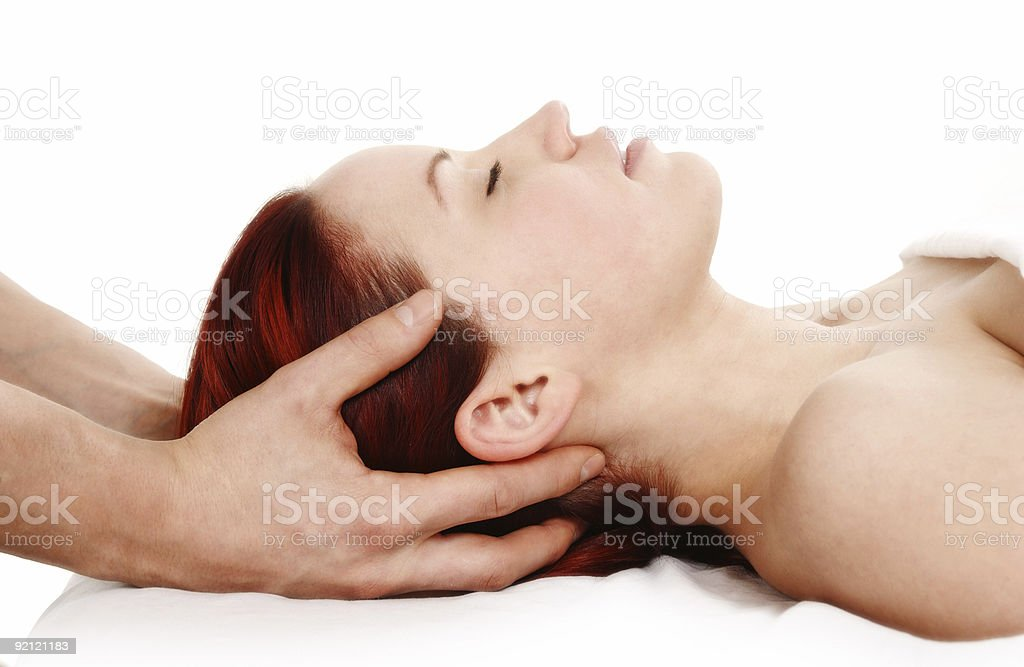 Massage therapy for a woman client royalty-free stock photo