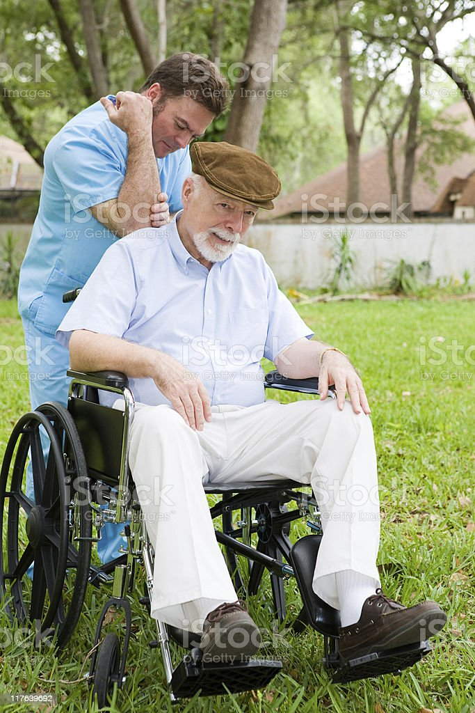 Massage Therapy for Senior Man royalty-free stock photo