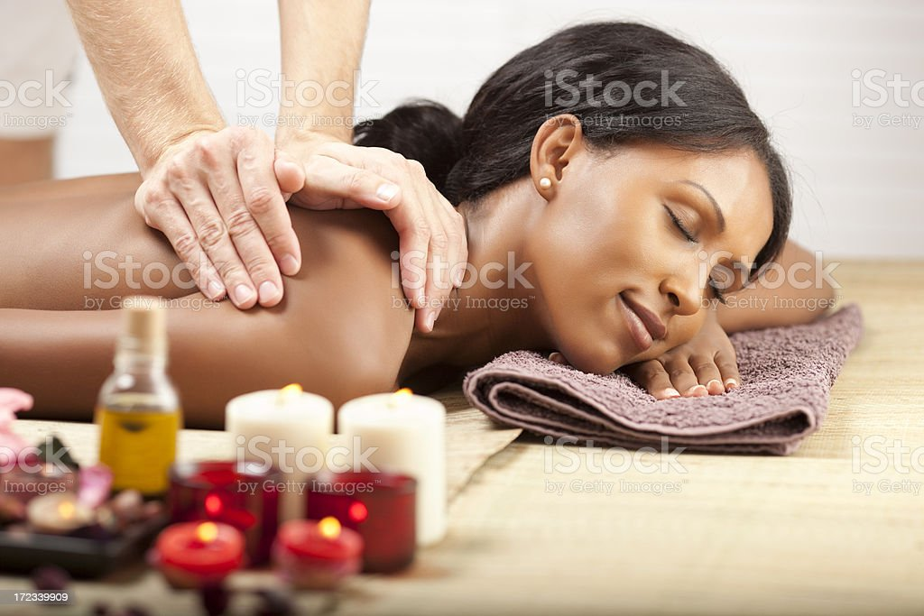 Massage therapy technique. royalty-free stock photo