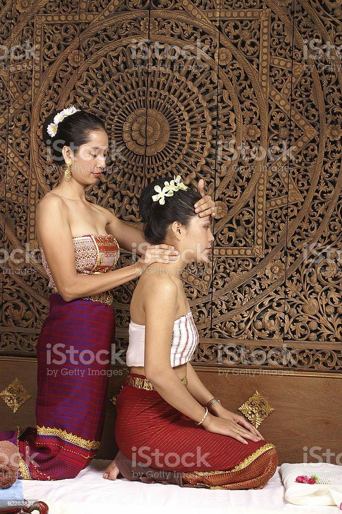 massage treatment stock photo