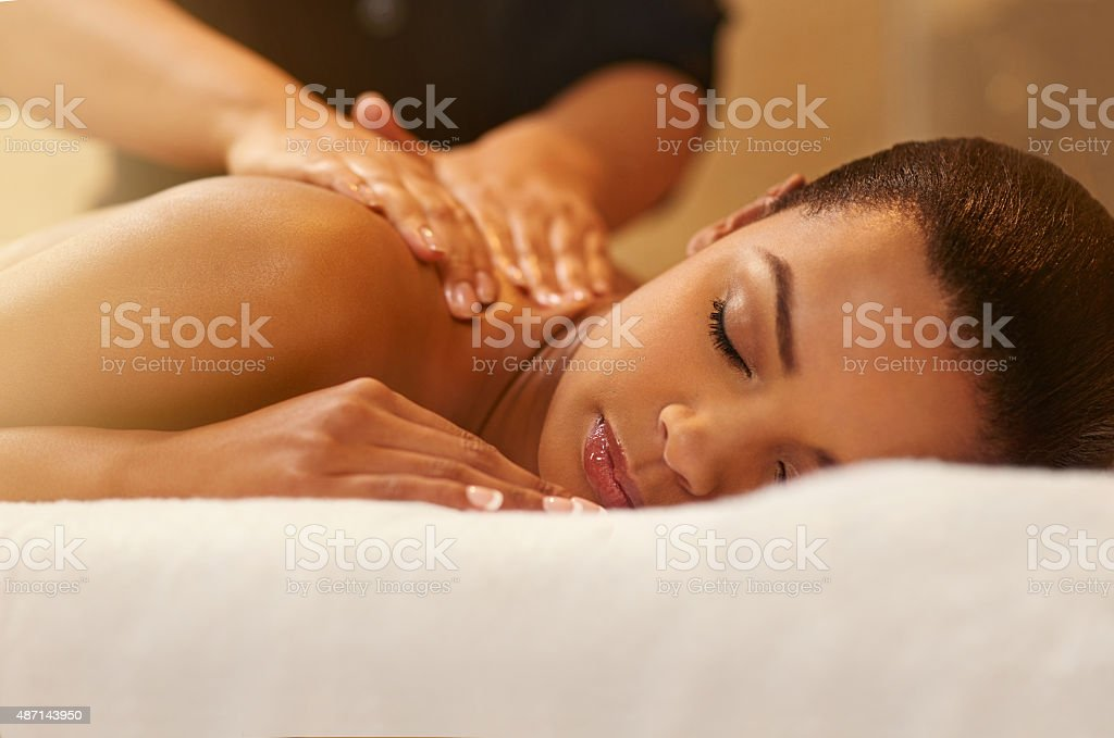 Massaging away all the worries and stress stock photo