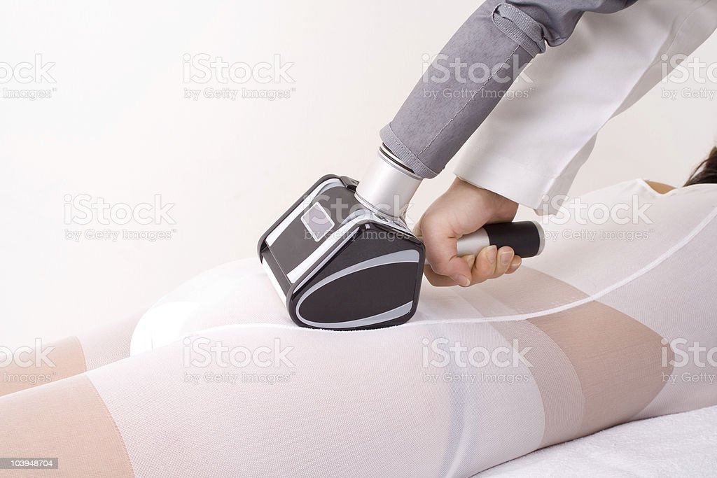 Massaging stock photo