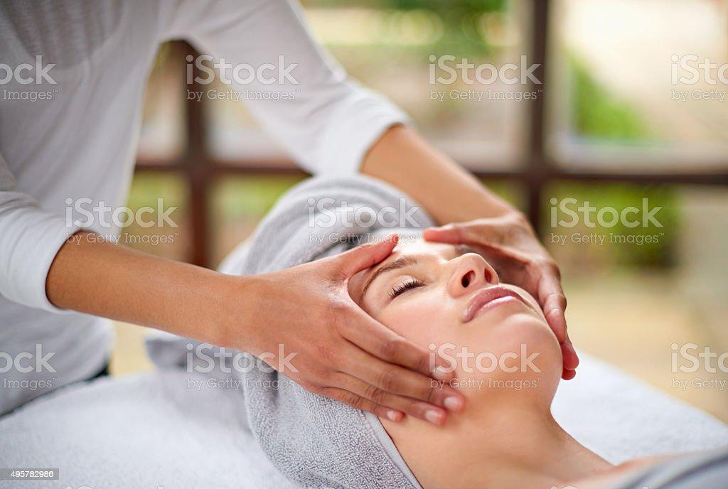 Massaging the stress away stock photo