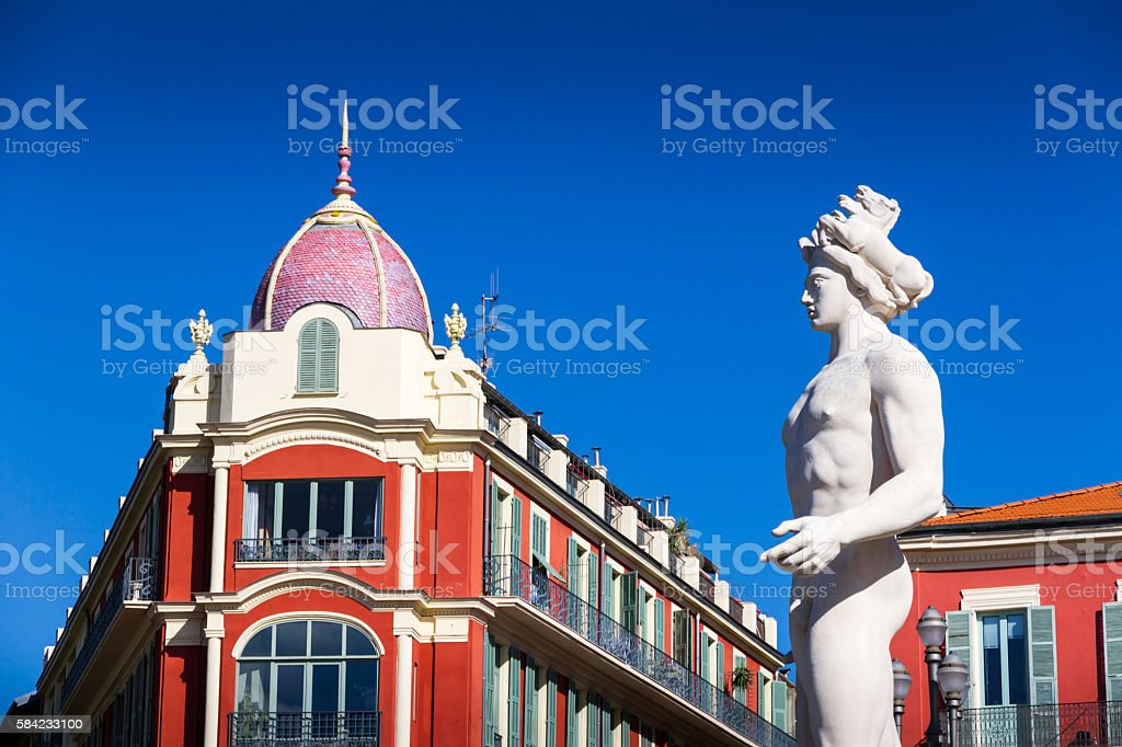 Massena place in Nice stock photo