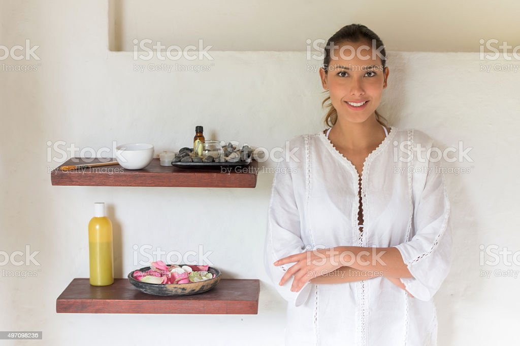 Masseuse at a Spa stock photo