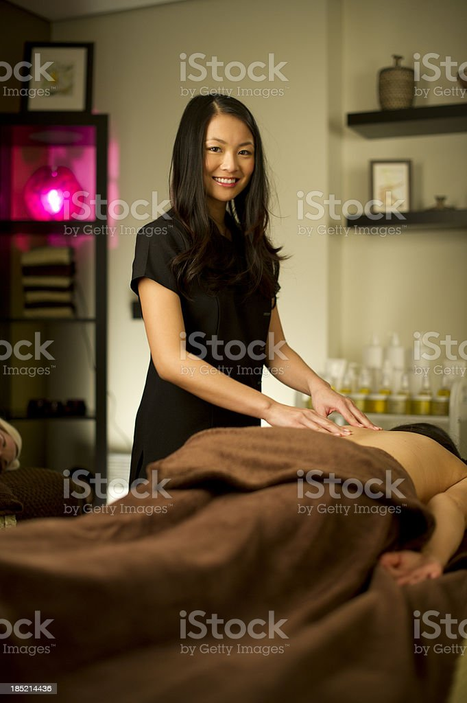masseuse stock photo