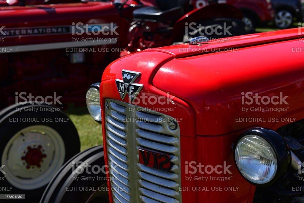 Massey Ferguson 135 tractors. stock photo