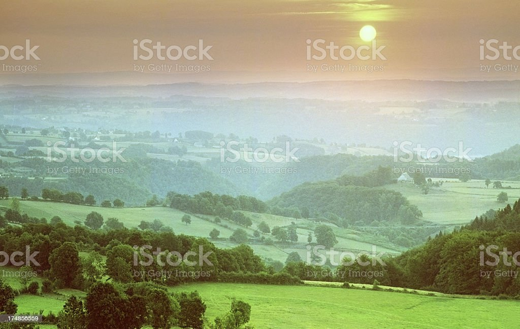massif central stock photo